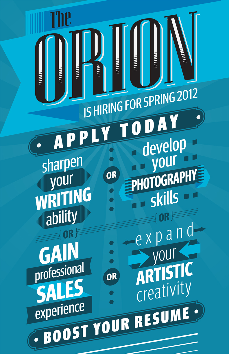 orion hiring ad monochromatic